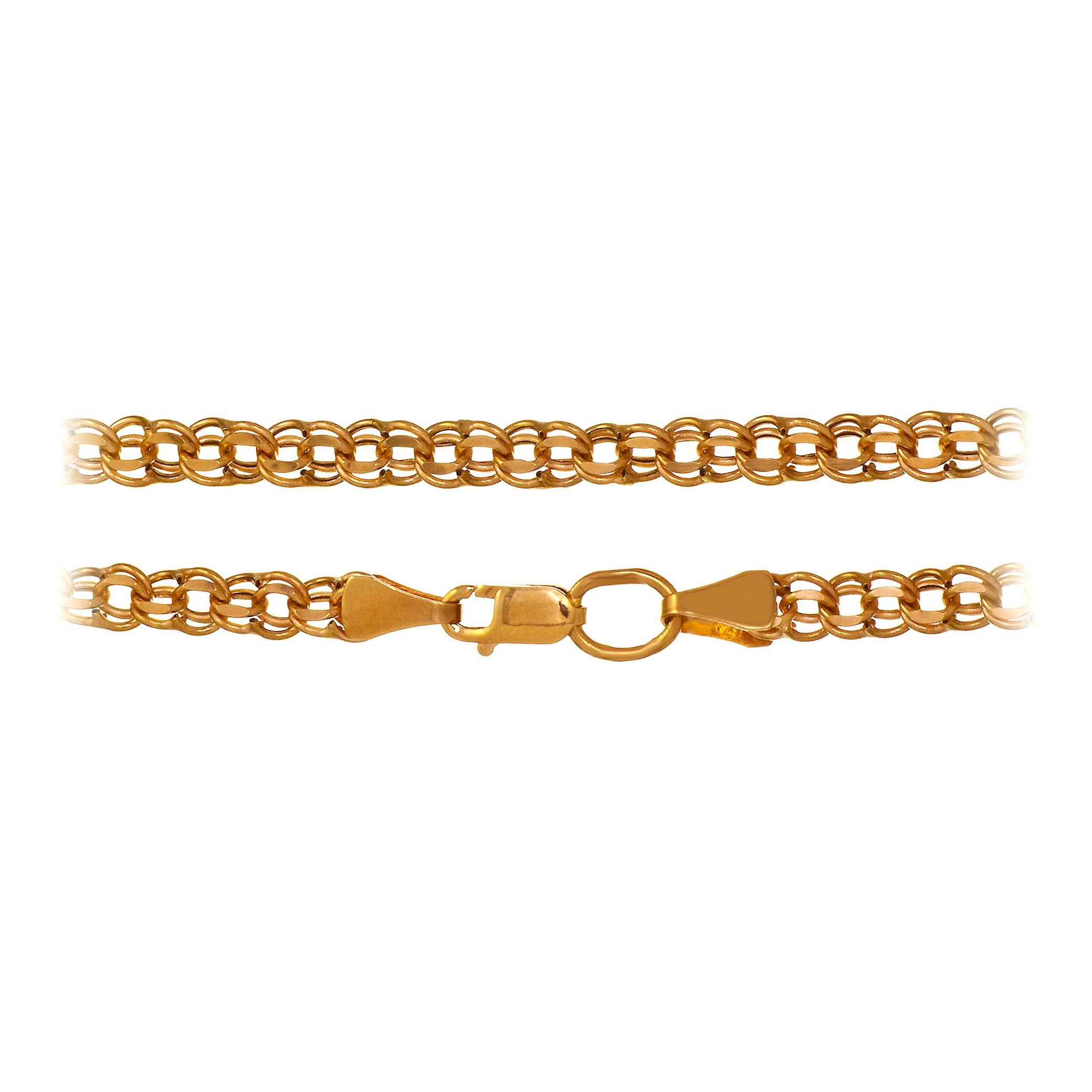 Бисмарк золотые цепи женские плетения