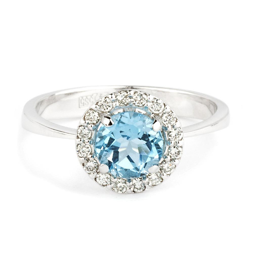 купить кольцо с топазом из белого золота
