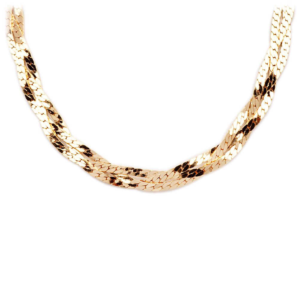Плетение золотой цепочки как косичка